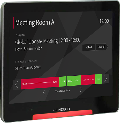 Raumbuchungssystem und desk sharing condeco software gmbh for Tablet hotel booking